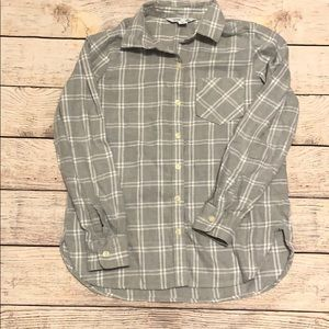 Old Navy Gray Plaid The Classic Shirt